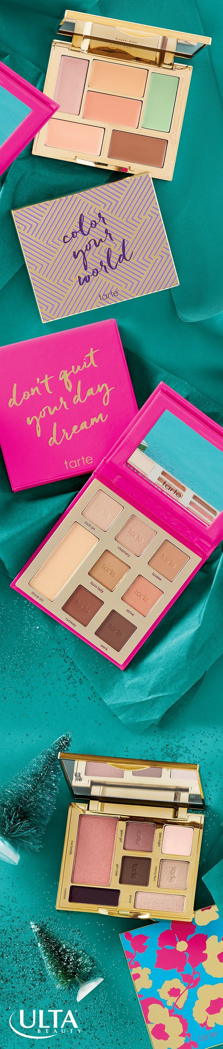 Give Tarte, from the heart. Tarte kits and palettes are such a luxe way to celebrate the holidays! Shop eyeshadow palettes, highlighting palettes and more at Ulta Beauty.