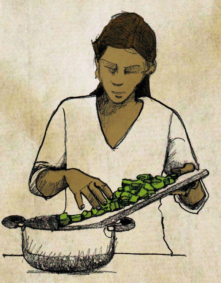 Cuisinière (crayon et digital) ©Antoine Digout