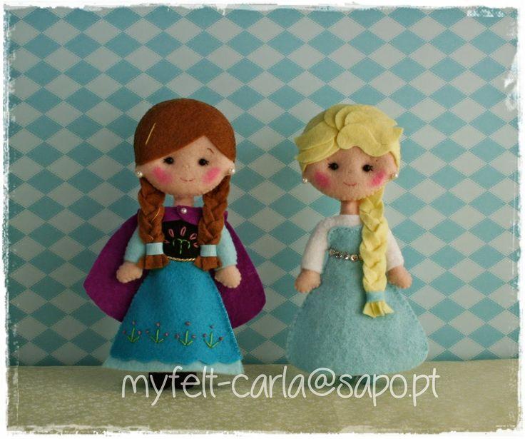 Anna e Elsa em versão mini!