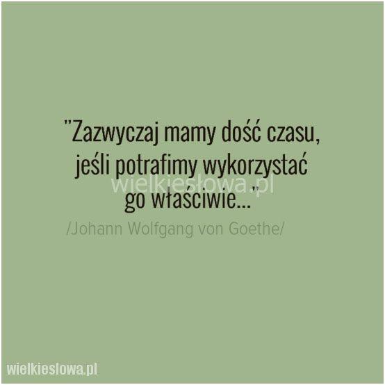 Zazwyczaj mamy dość czasu... #Goethe-Johann-Wolfgang,  #Czas-i-przemijanie