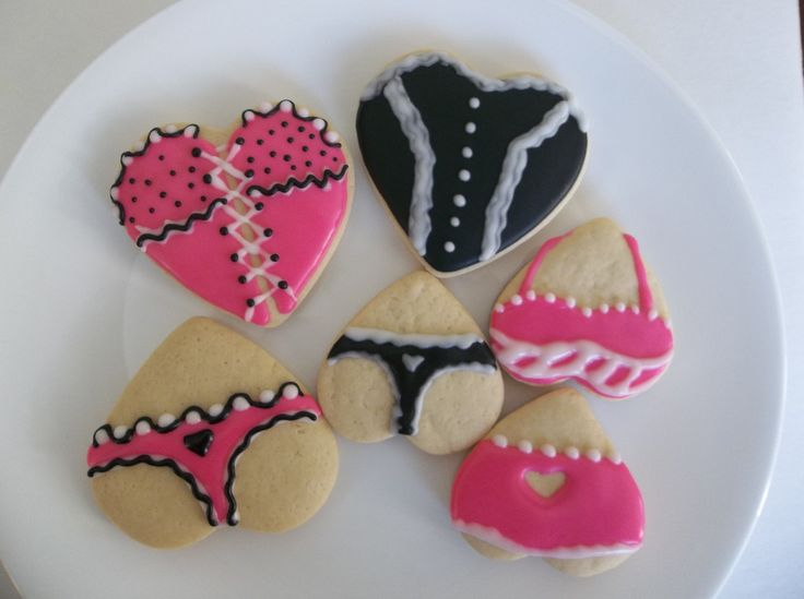 Lingerie Cookie/ Sexy Lingerie Cookie/ Bridal Shower cookie by SweetIndulgments on Etsy
