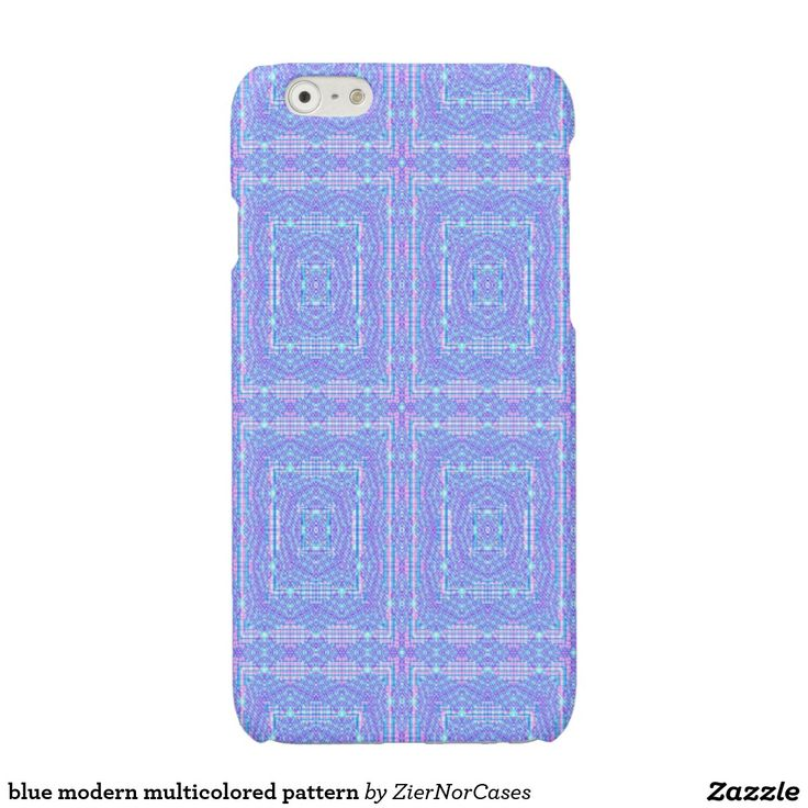 blue modern multicolored pattern glossy iPhone 6 case