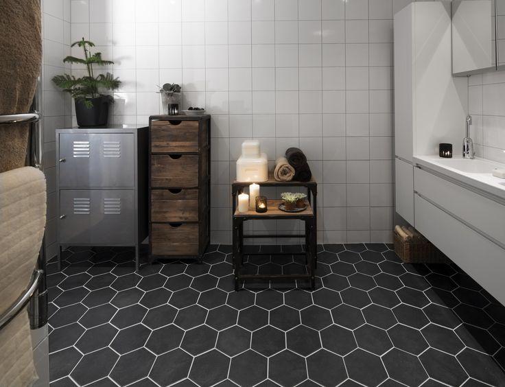 Köp Hexatile Negro Svart - Stenbolaget
