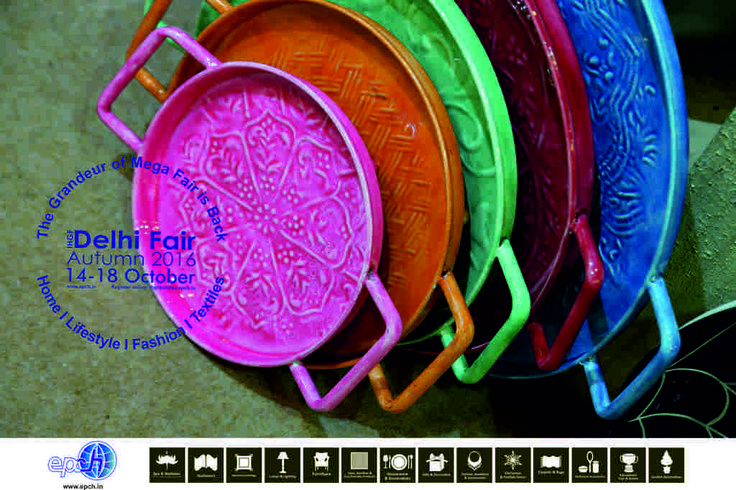 Patterned metallics liven up tables and kitchens...source these and more at the IHGF Delhi Fair, Autumn 2016 #tableware #kitchenware #tradeshow