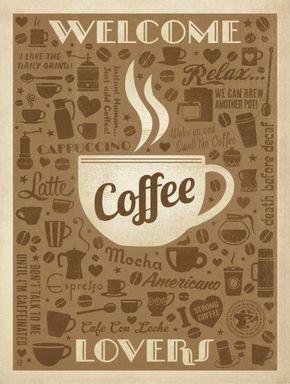 Coffee Lovers - Anderson Design Group   Crie seu quadro com essa imagem https://www.onthewall.com.br/poster/coffee-lovers #quadro #canvas #moldura #café #decoração