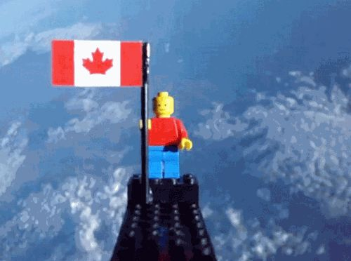 Lego in Space - Two Toronto teens sent a Lego figure and four cameras on a 97-minute ride up to 78,000 feet with a homemade weather balloon and a hand-sewn parachute.