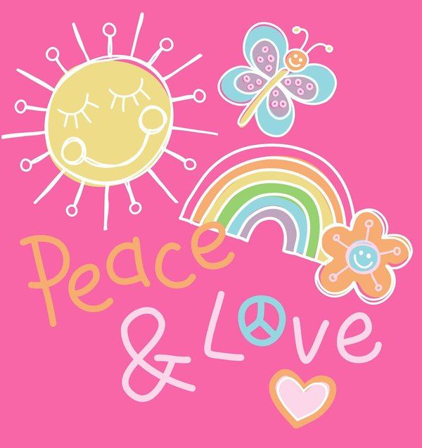 Peace & Love - print by @designbyday