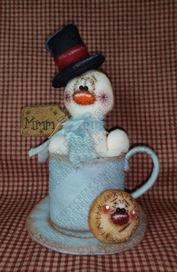 Galletas y cacao patrón 238 muñeca primitiva por GingerberryCreek