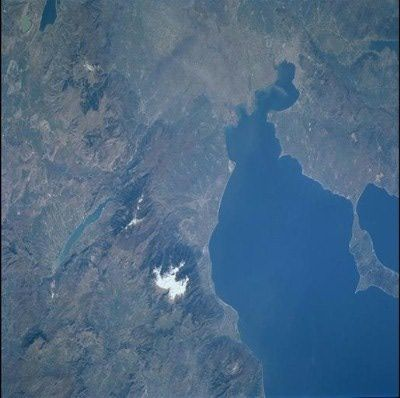 An astronauts eye looks down on the mountain of Zeus - Mt Olympus - #Macedonia #Greece