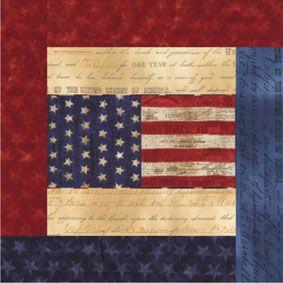 America the Beautiful Block Pattern