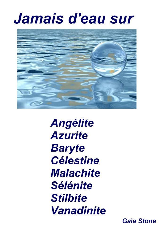 Purification eau pierres