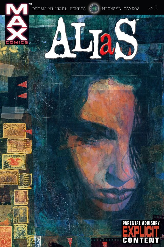 JESSICA JONES / JEWEL (Jessica Campbell Jones Cage) created by Brian Michael Bendis & Michael Gaydos - debuted in 'Alias' #1 (November 2001).