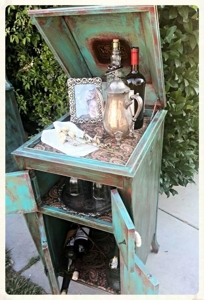 9 best repurposing the victrola images on Pinterest   Furniture ...