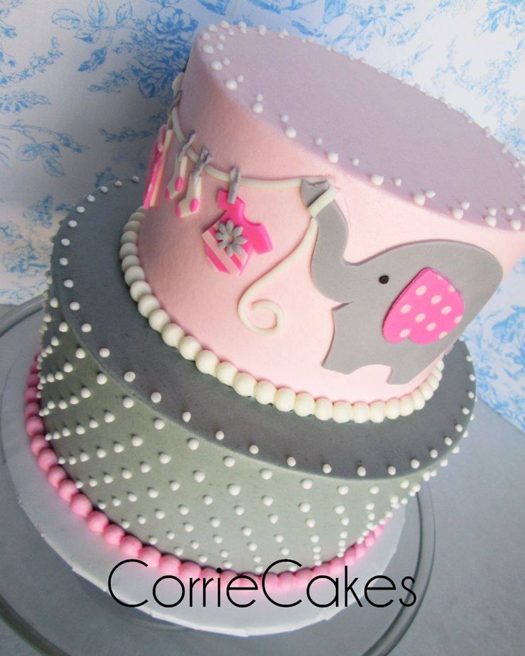 Cake Design Baby Shower Girl : Best 25+ Elephant baby shower cake ideas on Pinterest ...