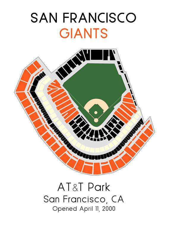 San Francisco Giants Att Park Mlb Stadium Map Ballpark Map Zach S
