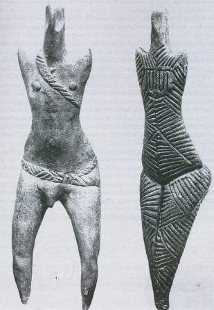 Detail man and woman,  Cucuteni culture, Romania (7000 - 3500 BC)