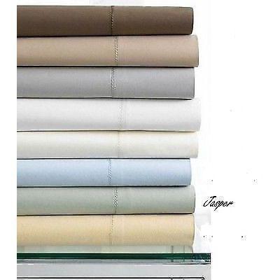 Hotel Collection King Flat Sheet 600 TC Egyptian Cotton Jasper NEW $190