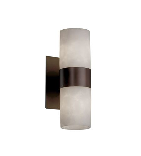 Justice Design CLD-8762-10-DBRZ Clouds 2 Light 5 inch Dark Bronze Wall Sconce Wall Light photo