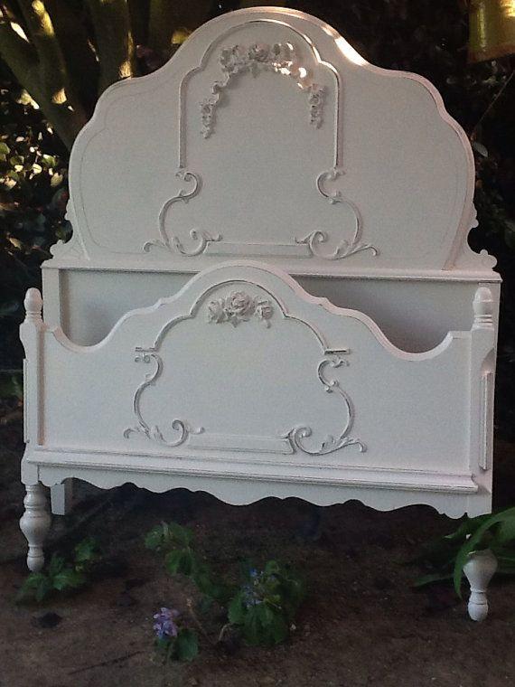 Antique Mahogany Single Bed On Etsy, $499.00