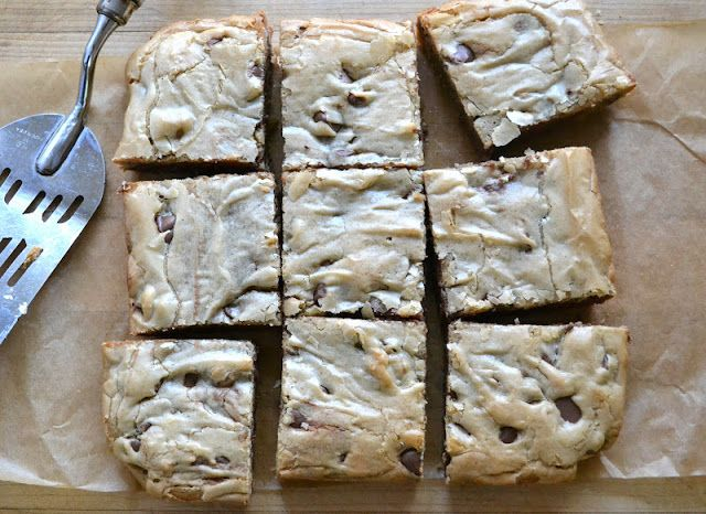 Care Packages 101: Peanut Butter Chocolate Chip Blondies - The View ...