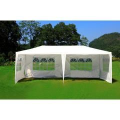 10'x20' White Canopy Party Outdoor Gazebo Wedding Tent 4 Removable Walls 6053-W1020w-4PC - Sears