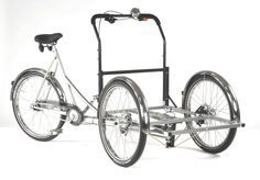 cargo bike plans | Here's another view of a cargo-trike frame without the box