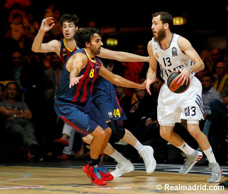Sergio Rodriguez, basketball player of Real Madrid Baloncesto, was wearing DAMIAN LILLARD ADIPURE CRAZYQUICK 2.0 grey-white-red, during Euroleague semifinal match against Real Madrid Baloncesto 16.5.2014