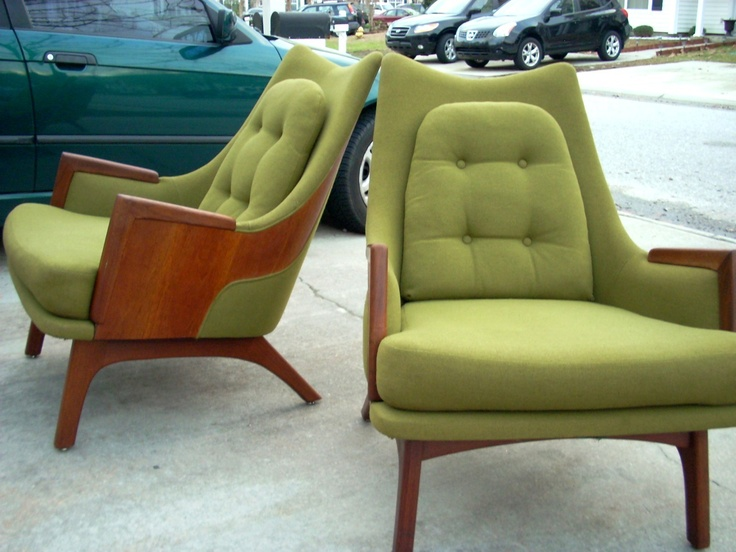 Mid Century Modern Lounge Chairs Miller Eames Pearsall. This is exactly what I need for my living room.