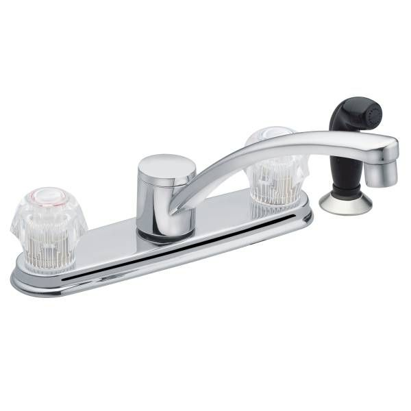 Adler Chrome Two Handle Low Arc Kitchen Faucet   CA87681