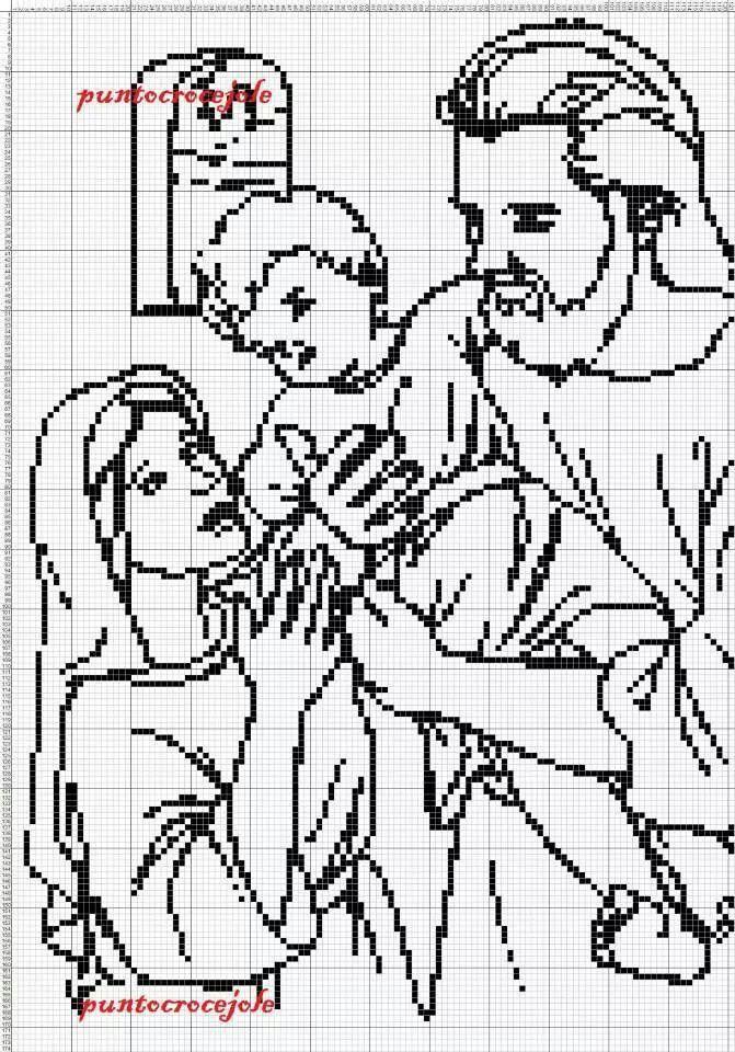 Point de croix -*♥*Cross stitch Sagrada familia