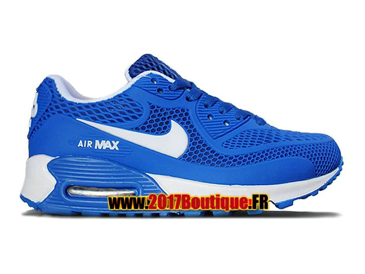 Nike Air Max 90 KPU (PS) Chaussure Nike Basketball Pas Cher Pour Enfant Bleu/Blanc 724872-006