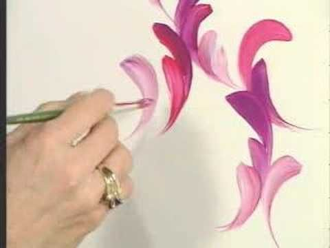 One Stroke™ Creator Donna Dewberry teaches you how to paint using the One Stroke technique and a round brush