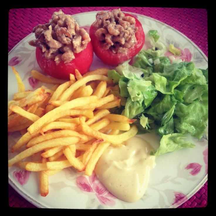 Home made 'tomate crevette'