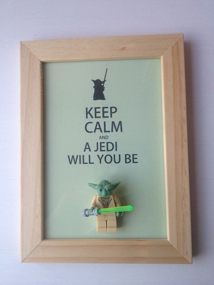 Cadre déco orignal Yoda