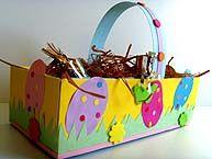 Les 18 meilleures images propos de paques sur pinterest couleurs contenus gratuits - Panier de paques a fabriquer ...