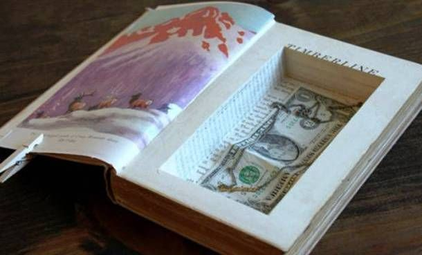 Do you think that only bookworms would like books for gifts? How about creating a secret hollow book safe for friends? Get an old book, a box cutter, an X-acto knife, brush, pencil, and ruler to have everything set up. You can also be creative by using bigger books for iPads or fatter ones for other things.