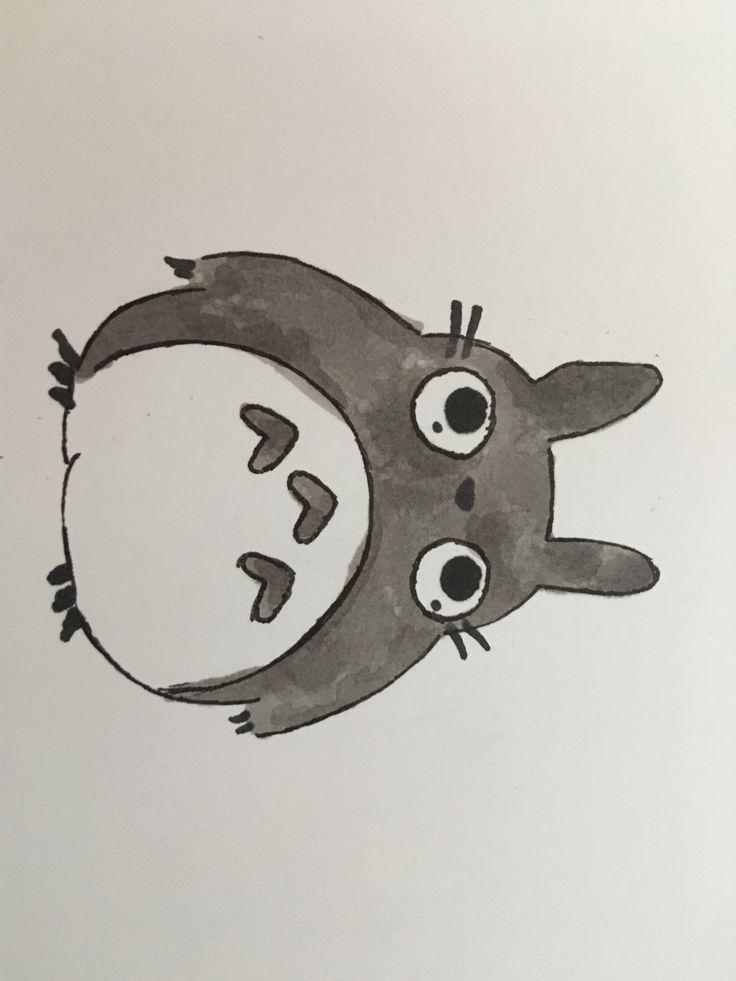 Totoro drawing!!! Sooo Cute!!