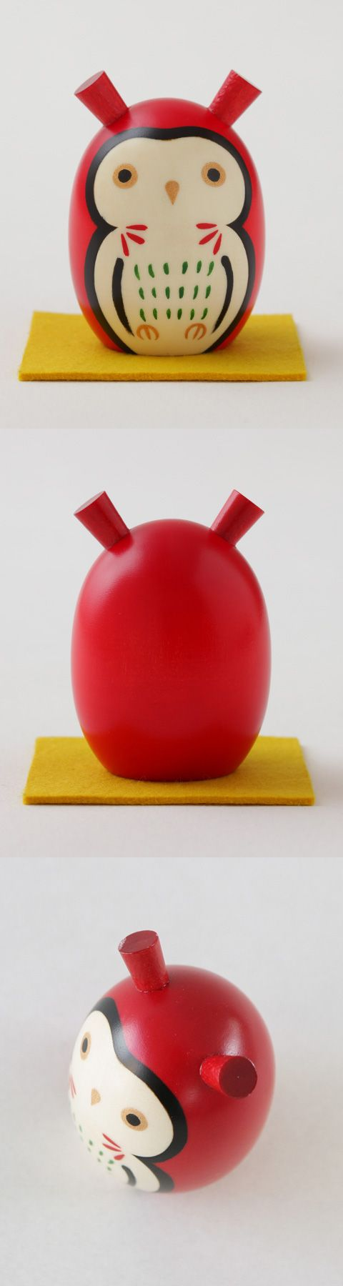 【こけし飾り みみずく(中川政七商店)】/魔除けの色とされる赤のみみずくは、江戸時代、だるまとともに愛された縁起物です。 #souvenir
