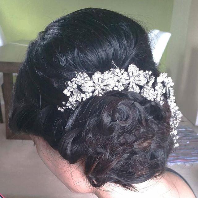 Soft side updo ,Asian bridal hair style, Bridal Hair Updo
