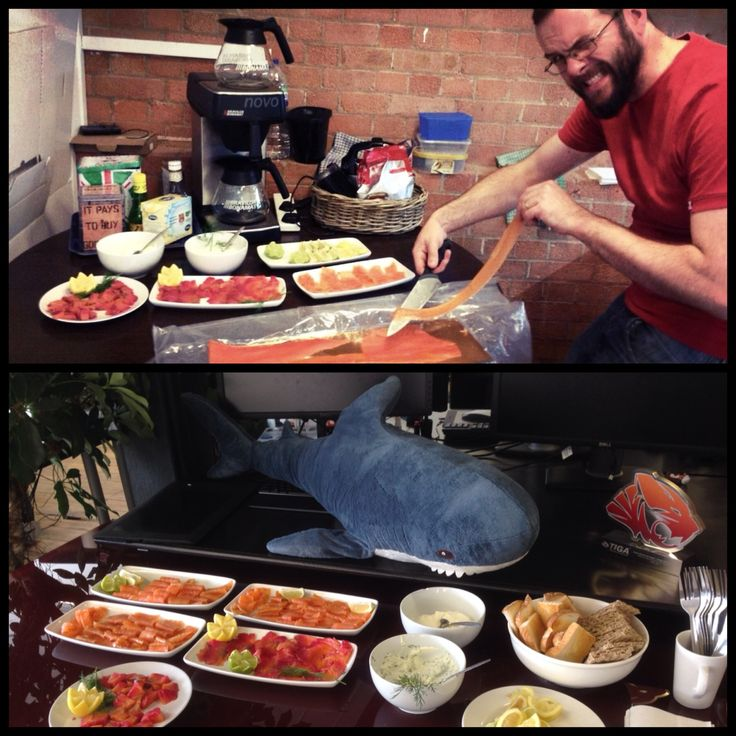 Bring your salmon to work day! As you may have noticed we like our food here at FGOL HQ and so does Blue-Tooth...
