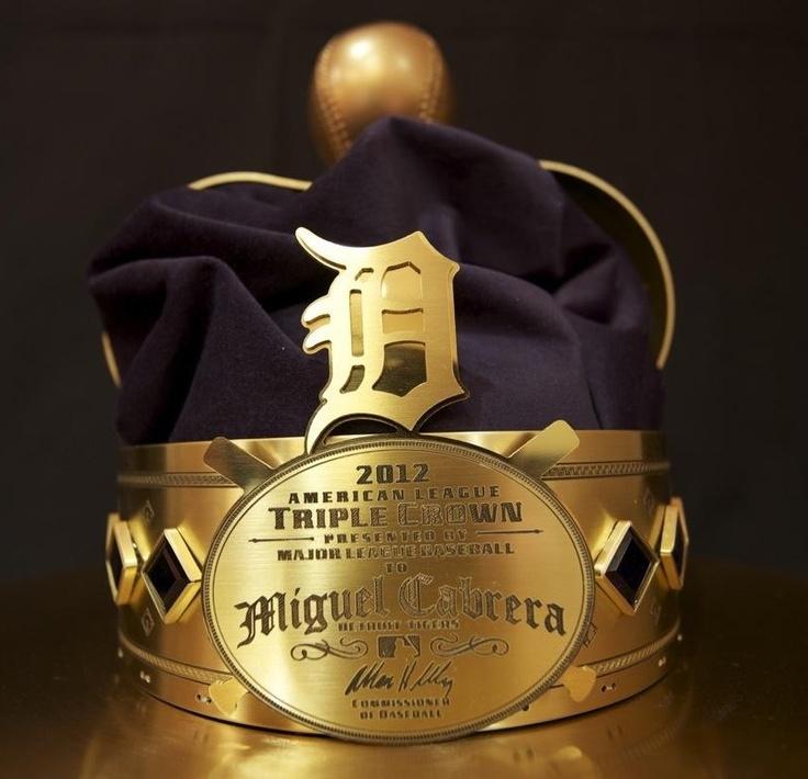 Miguel Cabrera's Triple Crown Trophy