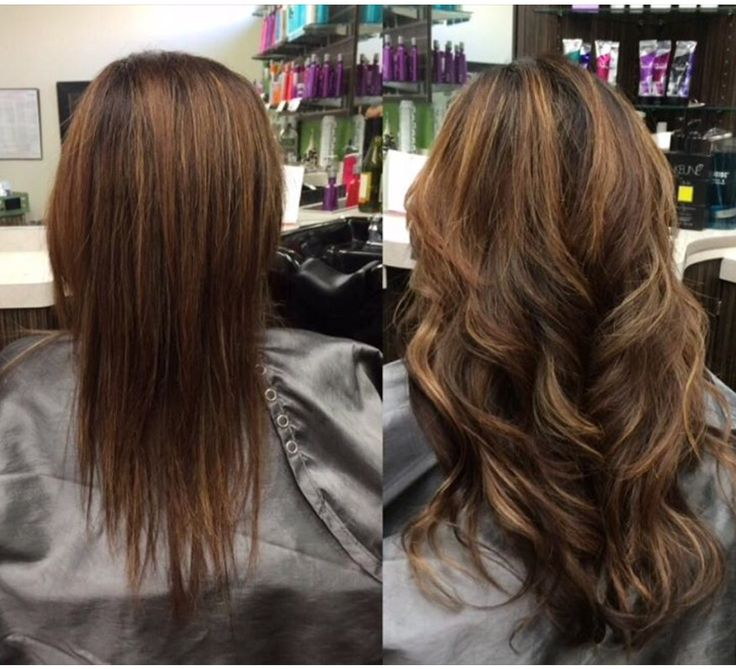 Tape-ins hair extensions for fullness on her ends.