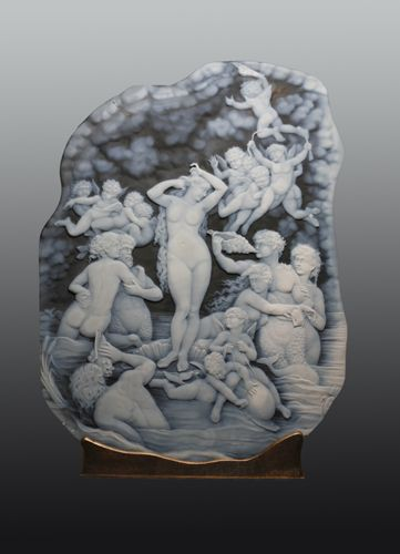 "Biggest cameo ever engraved ""Birth of Venus"", 14.5"" x 19.5"""
