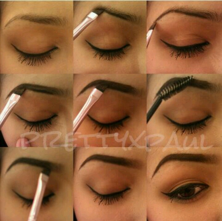 How To Fill In Your Eyebrows First Underline The Under Part Of My