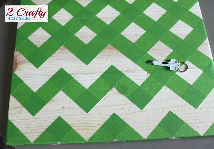 How to tape off the perfect chevron pattern!