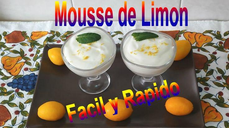 MOUSSE DE LIMÓN FACIL Y RAPIDO