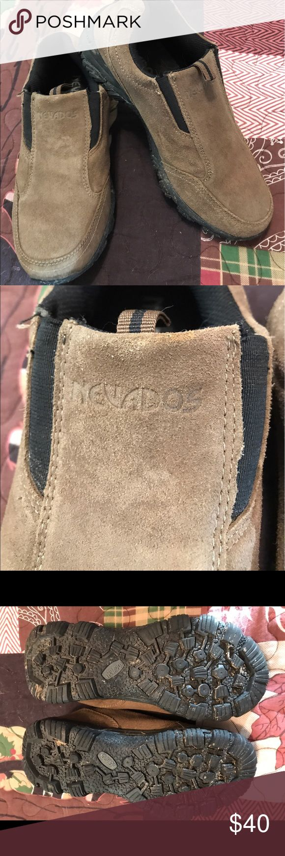 Nevados slip on suede shoes These are slip on suede shoes. Only worn once because they were too small and really not his style. nevados Shoes Loafers & Slip-Ons