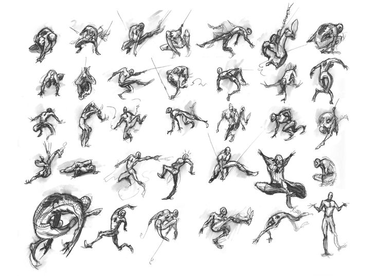 the art of Will Terrell » Spiderman poses based on the alphabet