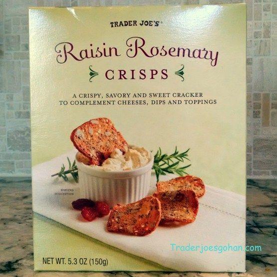 Trader Joe's Raisin Rosemary Crisps 5.3oz/150g  $3.99 トレーダージョーズ レーズンとローズマリークリスプ