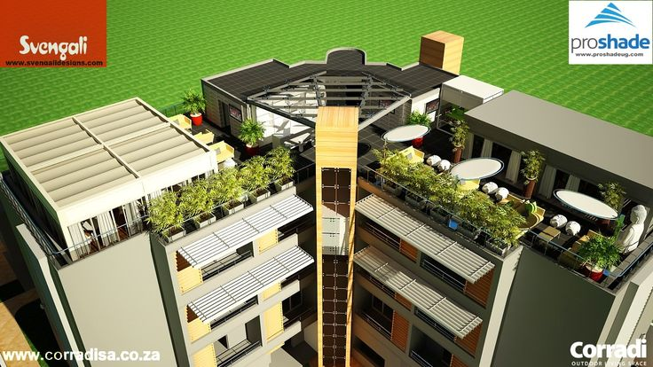 This beautiful, luxury boutique hotel in Lagos Nigeria  has a very nice roof garden which required something special. Svengali Designs in Victoria Island decided on two Pergotenda Kubo structures, fitted back-to-back. The installation was professionally done by Proshade from Kampala, Uganda.